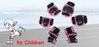knee pads for kids - Sports Knee Elbow Wrist Inlineskaten Protective Pads Pink for Kids
