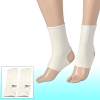 Ankle Support ankle brace - 2 Stretchy Pull Over Open Heel Ankle Support Brace Off White