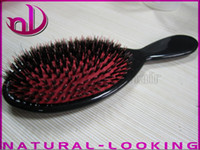 salon product - Hair Salon Products cm wild boar bristle Comb Excellent hair extension brush a Wooden hairbrush Dropshipping Lower Price