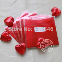 Wholesale 10 cm Rose Red Chocolate packaging foil Corrugated aluminum foil wrapping paper