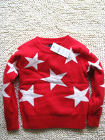 Cheap Wholesale-Cotton children pullovers stars kids sweater baby girls and boys sweaters children's clothing for 1-2-3-4-5
