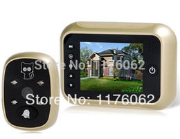Wholesale T115 quot TFT LCD Color Screen Digital Door Bell Peephole Viewer Camera with Recorder Wide angle and Night Vision