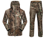 camouflage clothing - Suit Waterproof Realtree AP Camo Hunting Clothing Camouflage Suit Clothes Fishing Hunting Camo Jacket Camo Pants
