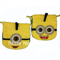 Wholesale New Cute Style Despicable Me Minion Drawstring Bag Birthday Party Favor Candy