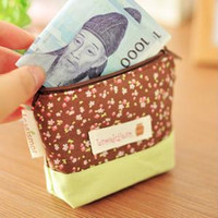 Cheap Wholesale-zakka Printing Canvas coin bag fashion women wallets purse case small storage bag 5colors