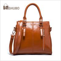 Wholesale SHUBO Women Brand Bags Fashion Casual Genuine Leather Bag Womens Portable Shoulder Bag Tote Messenger Handbags Bolsas SH082