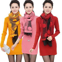 cashmere sweater - new winter ladies round neck cashmere sweater long thin thick sweater bottoming with Scarf