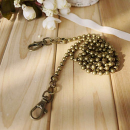 Wholesale piece cm Metal Beads Chain Ball Chain Antique Bronze Color Chain for Diy Frames Bags Purse Frame Handbag Free Gift N1071