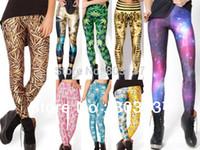 Cheap Wholesale-New Arrival 2015 Sexy Black Milk LEGGINGS Pirate Galaxy Digital Print Custom Set Fitness Pants For Women Drop Shipping Hot Sale
