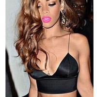 Wholesale Fashion Hip Hop Bustier Crop Top for Women Rihanna Sexy Tops for Women Vest Bralet Bandage Top Swag