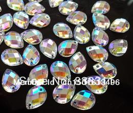 Wholesale Big Promotion AAA Quality bag x13mm Acrylic Crystal AB Color Sew on Dazzling Rhinestone Drop Shape YSDW A Free ship