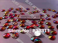 Wholesale Round mm Acrylic Crystals Big Red AB Color Conical Surface Rhinestones yyxj dh For Sewing Stones Sew on Loose Beads