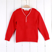 Wholesale new high end children clothing autumn boys sweater cotton V neck kids pullovers cardigan for girl