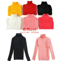 Wholesale E Best Autumn Winter warm sweater Baby boys Girls turtleneck pullovers Warm thick knitted wear STW