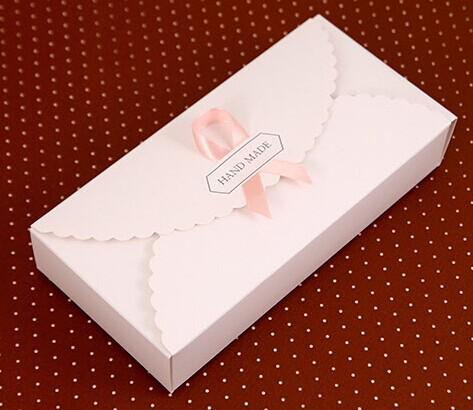 2016 Brief White Hard Paper Macaron Box Moon Cake Biscuit Boxes Baking ...