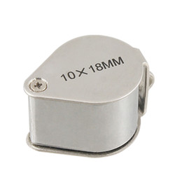 Wholesale 10 x mm Folding Magnifier Magnifying Jewelry Loupe