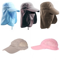 Wholesale 5 Colors Men Women Sunshade Fishing Cap Outdoor UV Protection Sun Hat Caps For Camping Hiking UPF H13135