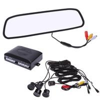 Wholesale 4 quot TFT LCD Display Camera V Parking Sensors Alarm Car Rearview Mirror Reverse Parking Radar Detector System Assistance K1522
