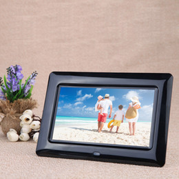 Wholesale 7 quot HD TFT LCD Digital Photo Frame with Slideshow Alarm Clock MP3 MP4 Movie Player with Remote Desktop D1529