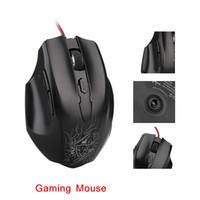 Alta qualità USB 2.0 Optical Gaming Mouse mouse 2000 DPI 6 D Pulsante LED blu Design per Computer PC portatile nero C1972 di spedizione gratuita
