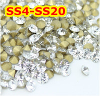 Wholesale Point back Glass Beads China AAA Stone Pointback Crystal Color SS4