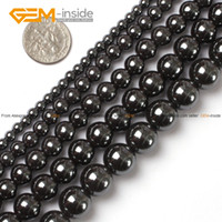 Wholesale Round Black Hematite Beads Natural Stone Beads Selectable mm mm mm mm mm Strand quot For Jewelry Making