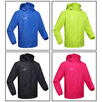 Wholesale Windproof Men Women Sports Jersey Spring Autumn Running Cycling Bicycle Waterproof Sleeve Coat Jacket Clothes Clothing Hooded Casual H12661