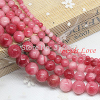 Wholesale Hot Sale mm Red Multicolor Jade Round Loose Stone Beads Aaa quot strand Pick Size f00037 Aa