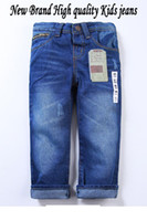 Wholesale New Arrival Spring and Autumn Kids Jeans for Children Overall pants Fashion Blue Destroyed boys some haren jeans promotion price