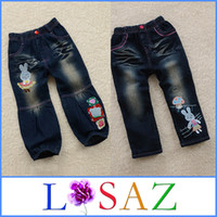 wholesale blue jeans - Spring Blue Jeans For Children Baby Jeans Cotton Pants Girls For Summer
