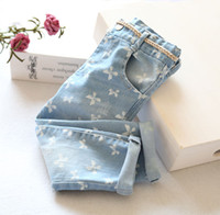women jeans wear - Top Fasion Brand Overall Girls Jeans Clothes Women Wear Sand Baby Bow Wild Style Fashion Jeans Casual Pants