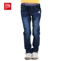Wholesale girls pants kids jeans full length skinny straight leg jeans fashion children
