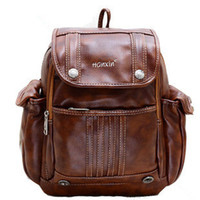 Wholesale New Fashion College Pu Travel Bags Hot Women Leather Backpack School Backpacks For Girls Duffel Bag
