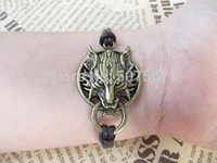 Wholesale wolf Bracelet wolf Charm Bracelet Harry Potter Bracelet Friendship Gift Personalized Bracelet charm wolf head