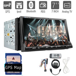 Wholesale Latest Car Stereo Auto In Dash GPS car dvd player Sat Navigation Radio RDS Double DIN quot HD touch Screen Bluetooth BT iPod MP3 FM Aux