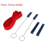 Wholesale Professional Piano Piano Tuning Tool Rubber Mute Temperament Strip Fixing Tools Kit Set I503