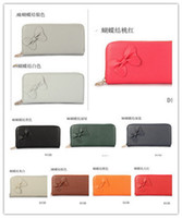 Wholesale women s brand named bowknot wallet one zipper wallet famouse lady purse change pocket
