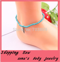 Wholesale Fashion new style blue beads Fatima hand anklet foot jewelry ankle bracelet barefoot scandal