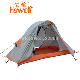 Hewolf high quality 2.25kg single person double layer waterproof camping tent