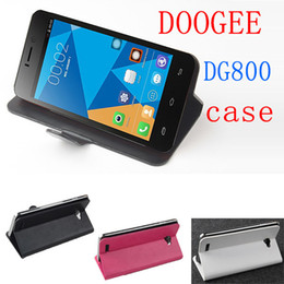 Wholesale-Original Doogee Valencia DG800 Case Flip Leather Cover Case for Doogee Phone DG800 3Color In Stock Freeshipping