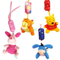 Wholesale Retail New lovely Baby bed bell toy Bed to hang the bell baby rattles babys toys Donkey Bear pig Tigger plush toys