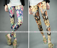 Wholesale New arrival sexy Print flowers Jeans For Women Fashion Seamless Leggings high quality