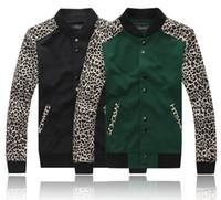 Wholesale Fashion Letterman Jackets For Men Hip Hop Mens Leopard Print Clothing Men s Sweatshirt Hoodies Coat