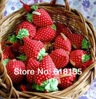 Wholesale Nylon Foldable Strawberry Shopping Bag Several Colors