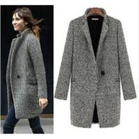 Wholesale HOT SALE Design New Spring Winter Trench Coat Women Grey Medium Long Oversize Warm Wool Jacket Europ Fashion Overcoat S XL