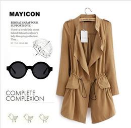 Wholesale European Style Women Trench Coats Fall Fashion Plus Size Slim Waist Overcoat Autumn Clothing Outerwear