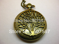 Wholesale Pocket watch pendant branches of trees natural