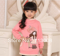 Wholesale autumn new arrival children s hoodies girl s cartoon long fleece children s sweatshirt resale