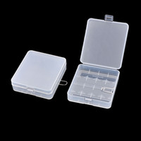 Wholesale 2 Clear White Plastic Storage Battery Box Case for x Batteries