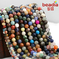 Wholesale mm mm mm Loose Semi Precious Nature Jasper Beads Pick Size quot Diy Bracelet Necklace For Jewelry